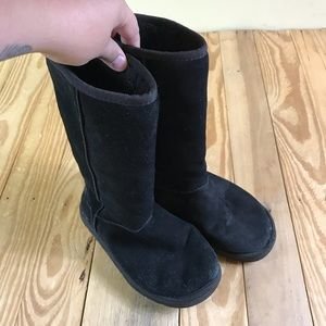 Ugg Boots Black Fur Classic Tall Style size 6